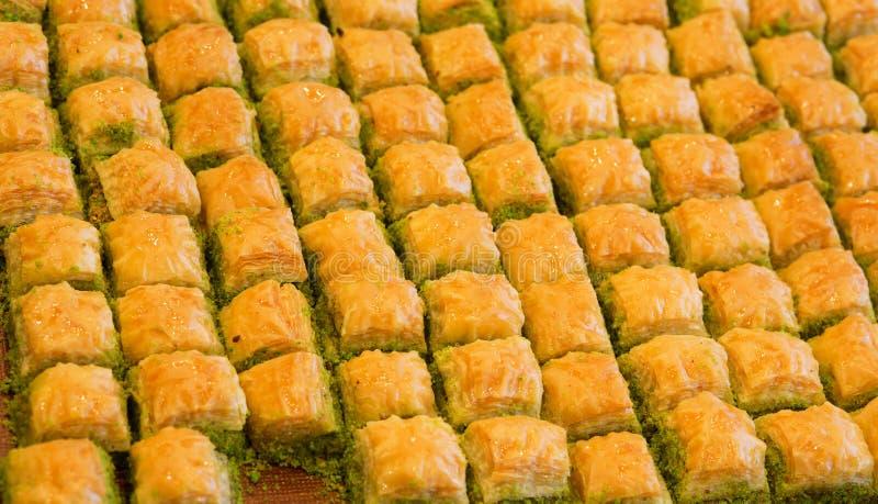 Läcker turkisk baklava arkivfoton