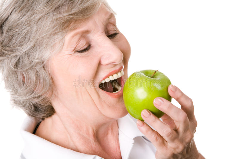 läckert äpple arkivbilder