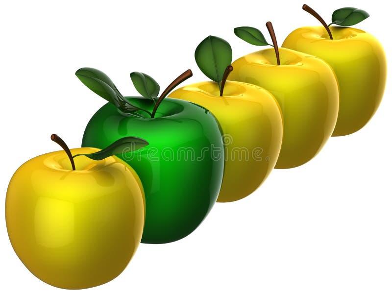 läckert nytt ledarskap för äpplebegrepp stock illustrationer