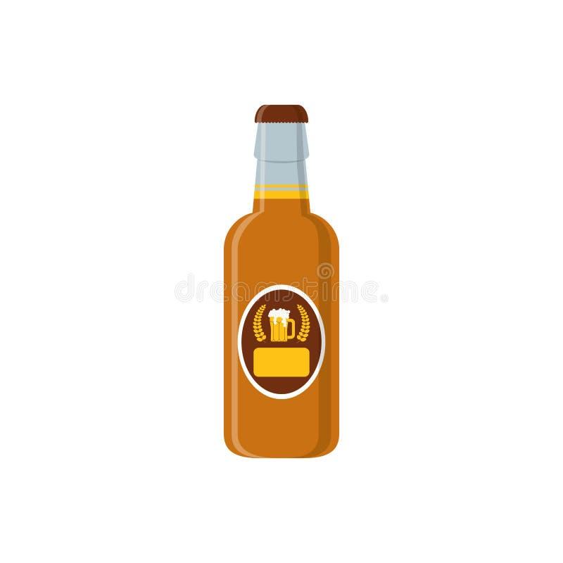 Läckert och kallt öl royaltyfri illustrationer