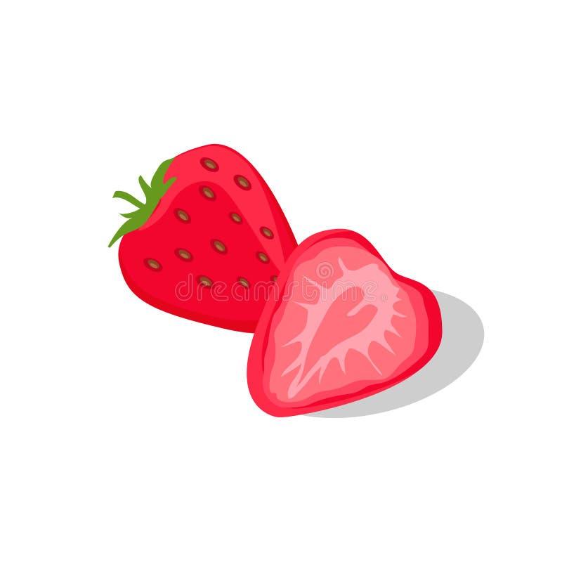 Läckert och saftigt stawberry royaltyfri illustrationer