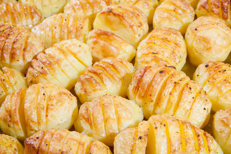 Läckra bakade potatisar arkivfoto