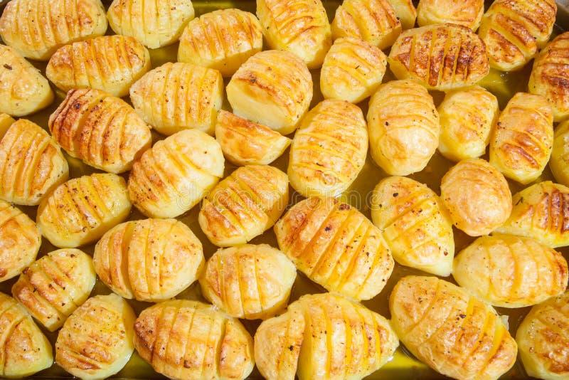 Läckra bakade potatisar royaltyfria bilder