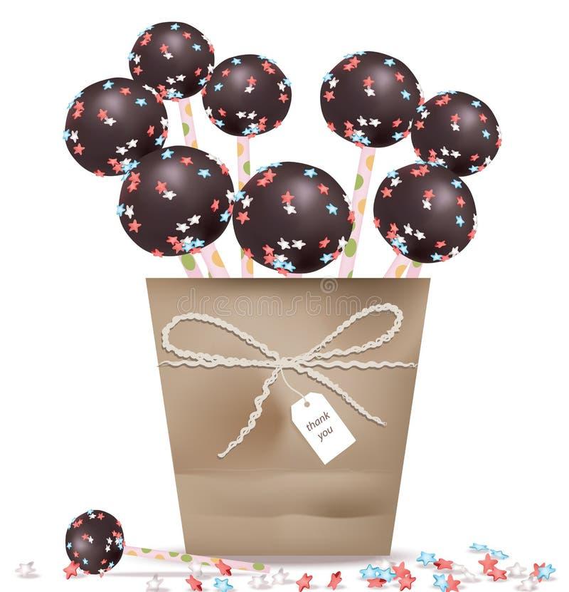 Läckra festliga sötsaker och efterrätter för ett parti Sommarkonfektaffärgodisen behandlar vektorillustrationen royaltyfri illustrationer