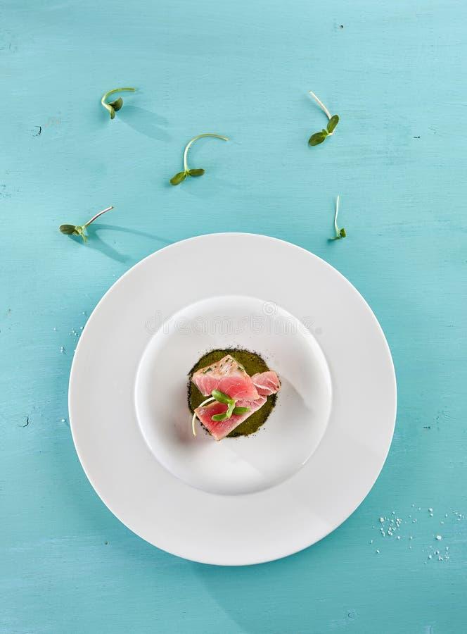 Läckra Fried Tuna Fillet arkivfoton