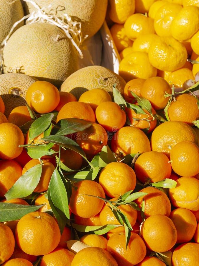 Läckra frukter säljs på gatan royaltyfria bilder