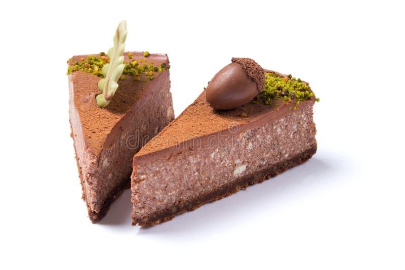 Läckra isolerade chokladkakor arkivfoto