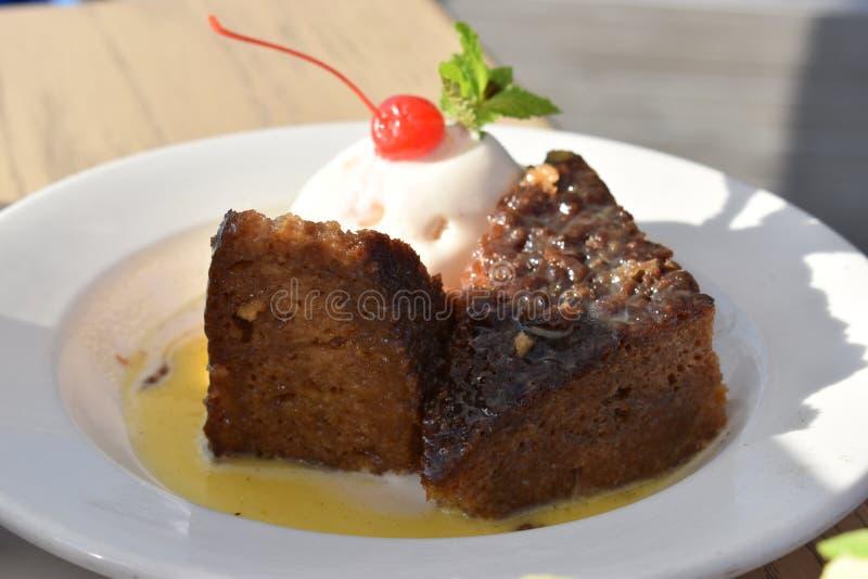 Läckra traditionella söder - afrikan Malva Pudding arkivbild