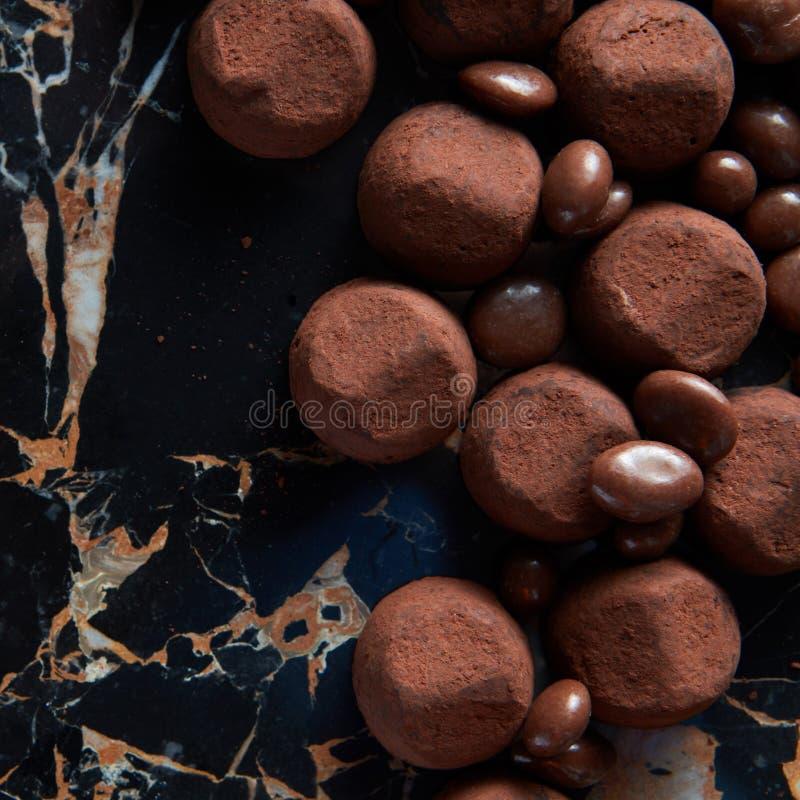läckra tryfflar för choklad arkivfoton