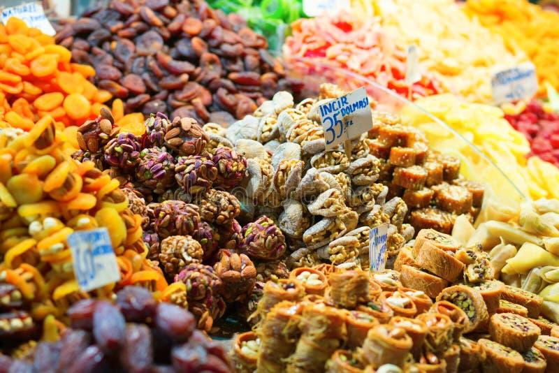 Läckra turkiska sötsaker arkivfoto