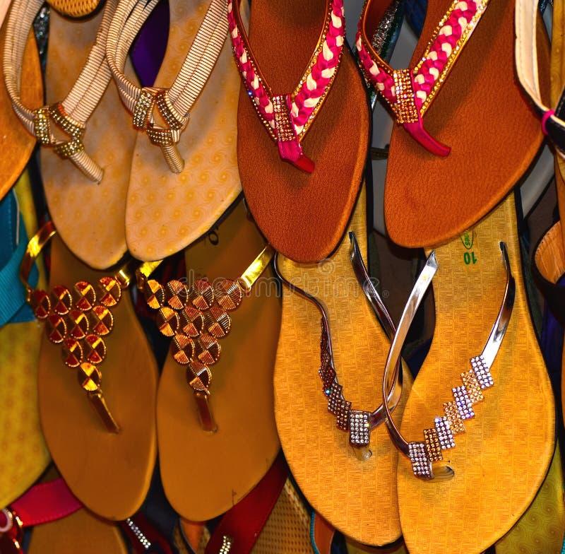 Läder gjort sandalbakgrundsfotografi fotografering för bildbyråer