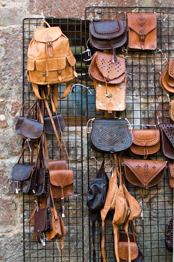 Läder Hänger Lös Royaltyfria Bilder