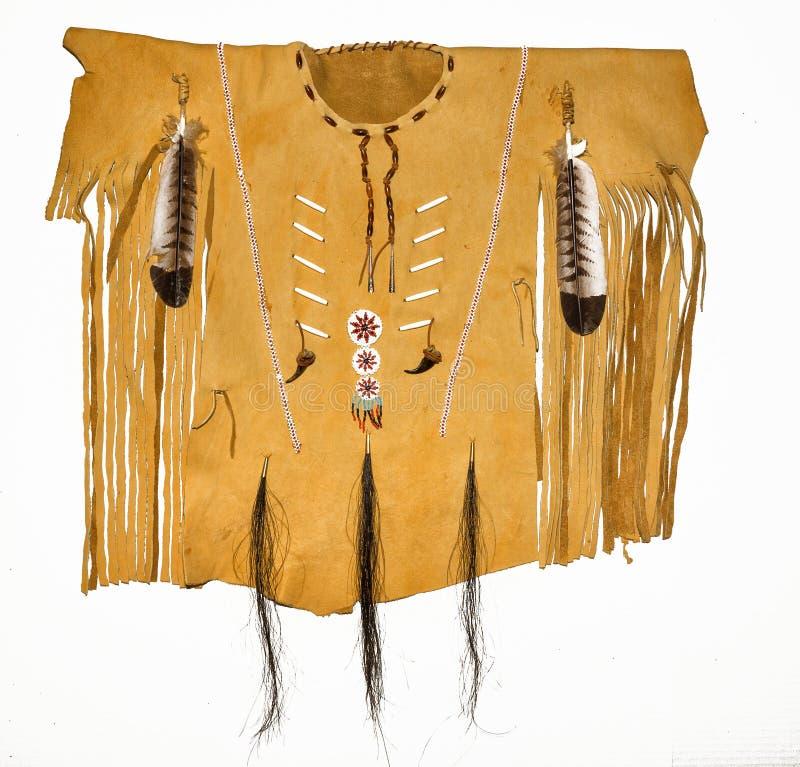 Läderindianskjorta royaltyfria bilder