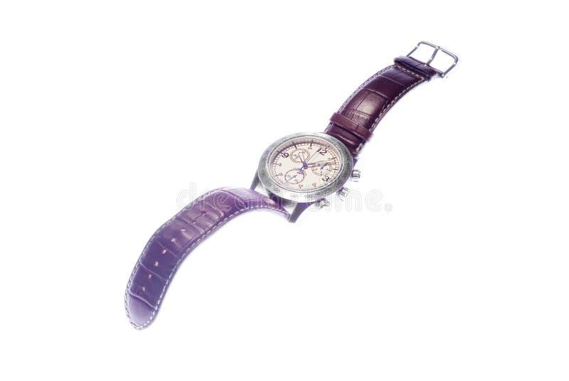 läderremwatches royaltyfria foton