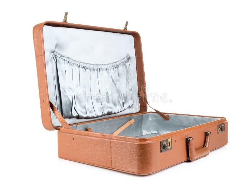 Läderresväska arkivbilder