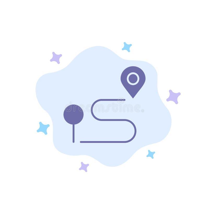 Läge översikt, navigering, Pin Blue Icon på abstrakt molnbakgrund stock illustrationer
