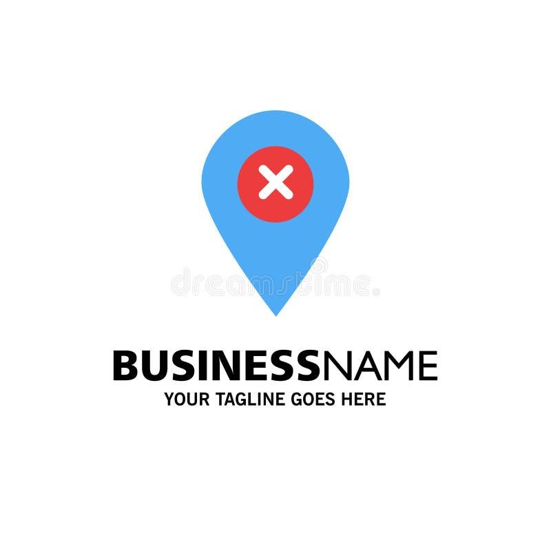 Läge översikt, navigering, Pin Business Logo Template plan f?rg vektor illustrationer