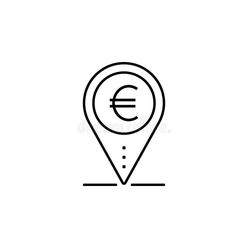 Läge av pengarsymbolen Beståndsdel av den populära finanssymbolen Högvärdig kvalitets- grafisk design Tecken symbolsamlingssymbol vektor illustrationer