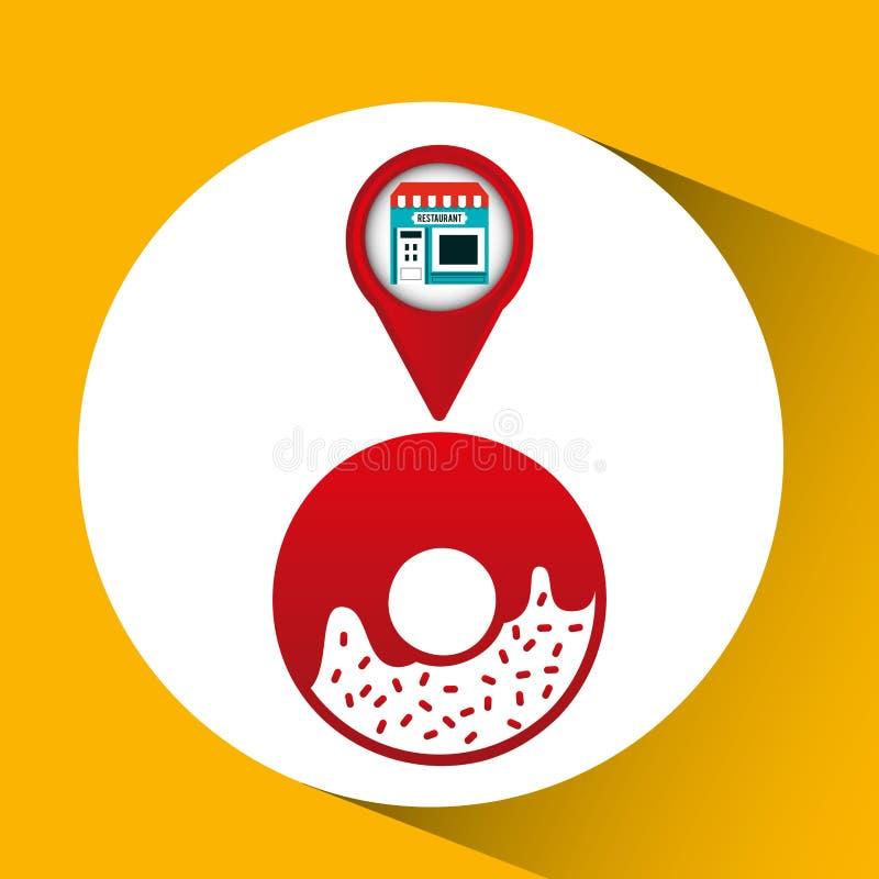 Läge för app för Smartphone lagermunk stock illustrationer