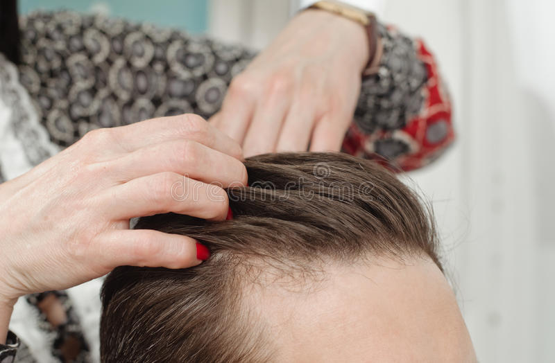 Läge för hårsalong arkivfoto