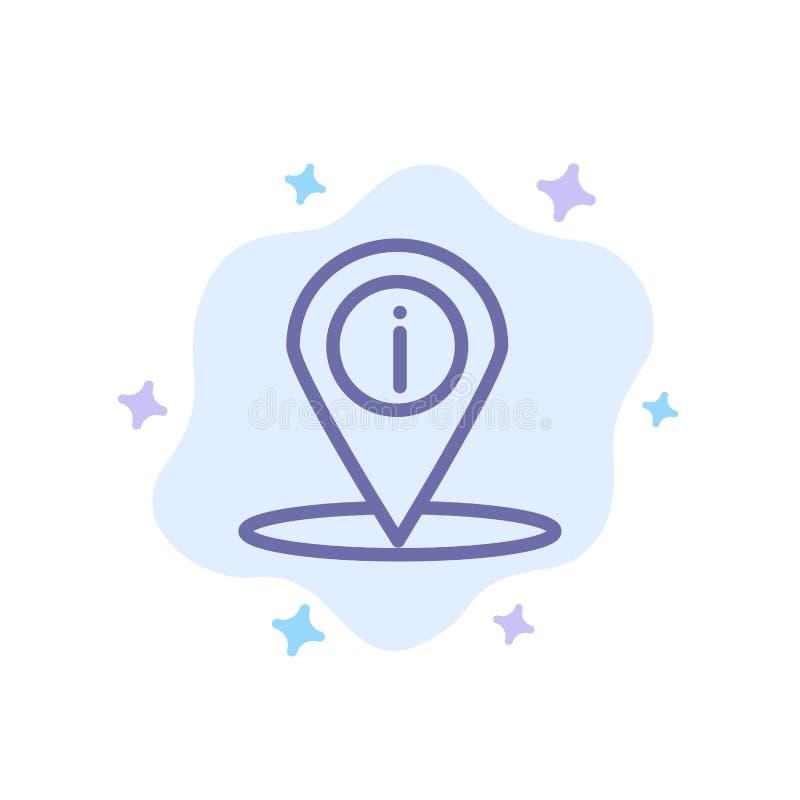 Läge navigering, ställe, blå symbol för information på abstrakt molnbakgrund royaltyfri illustrationer