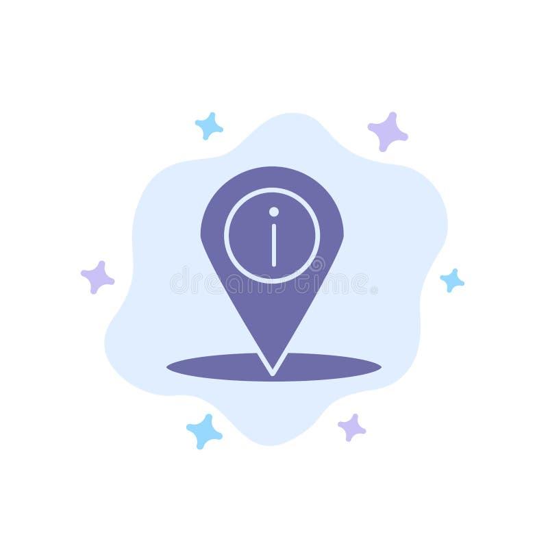 Läge navigering, ställe, blå symbol för information på abstrakt molnbakgrund stock illustrationer