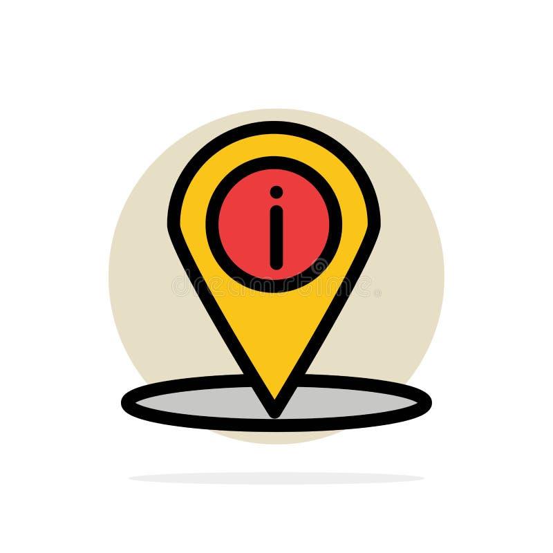 Läge navigering, ställe, för abstrakt symbol för färg cirkelbakgrund för information plan stock illustrationer