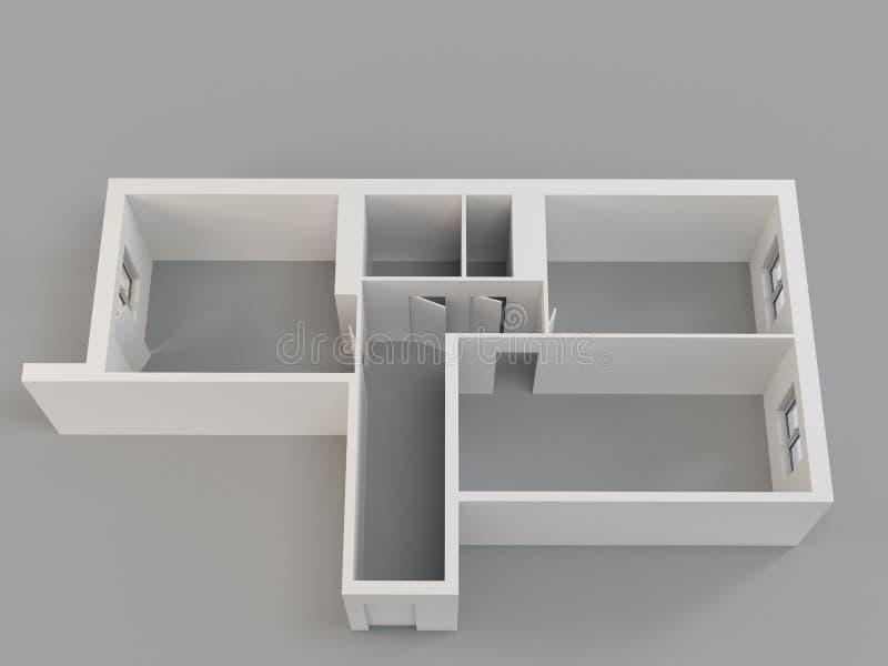 lägenhet 3d vektor illustrationer