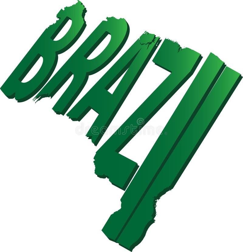 Lägenhet för Brasilien textöversikt arkivbild