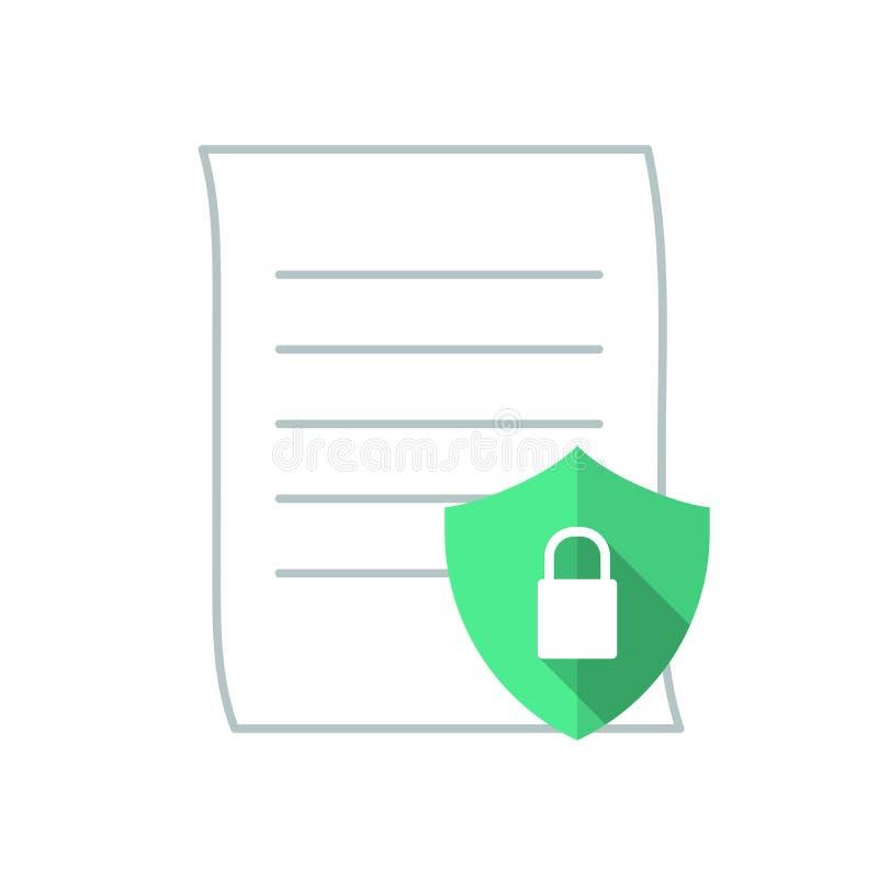 Lägenhet för säkerhet för data för kommunikation för vektorteknologiillustration stock illustrationer