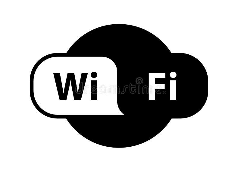 Lägenhet för signal för internet för läge för Wifi logozon trådlös - för materielet, symbol vektor illustrationer
