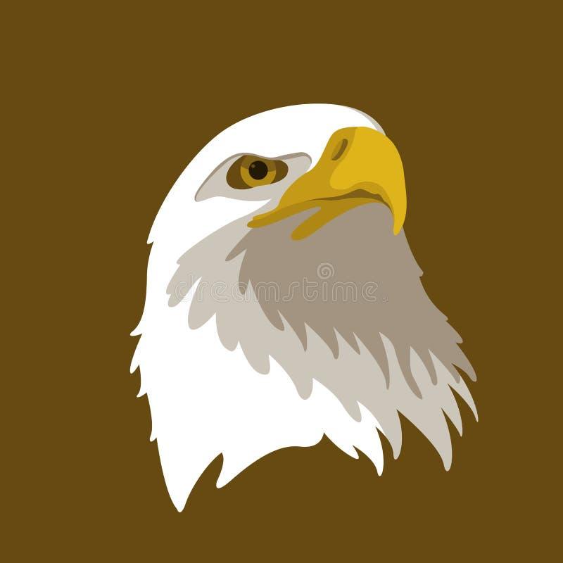 Lägenhet för stil för illustration för Eagle huvudvektor royaltyfri illustrationer