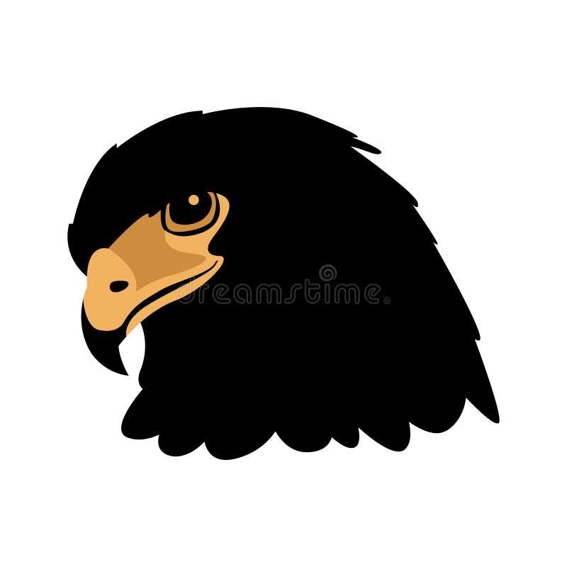 Lägenhet för stil för illustration för vektor för Eagle huvudframsida vektor illustrationer