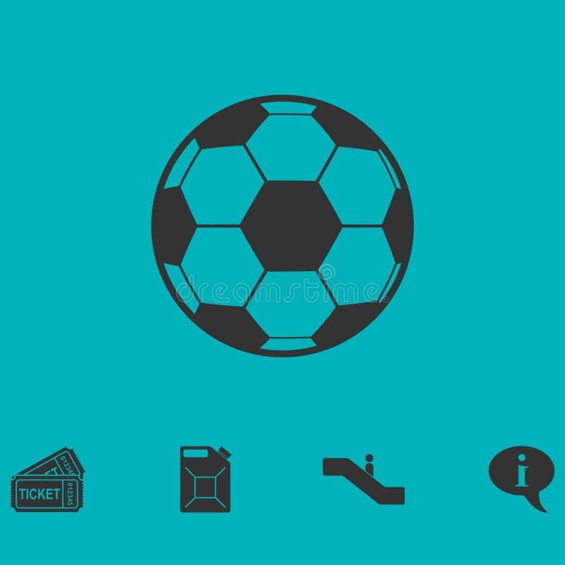 Lägenhet för symbol för fotbollboll vektor illustrationer