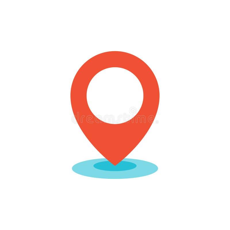 Lägenhet för symbol för Geo lägestift vektor illustrationer