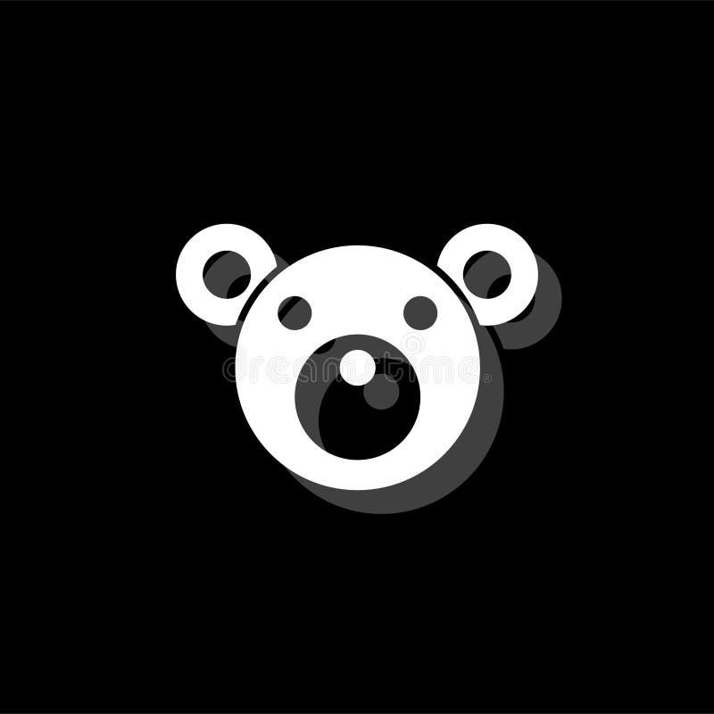 Lägenhet för symbol för nallebjörn stock illustrationer