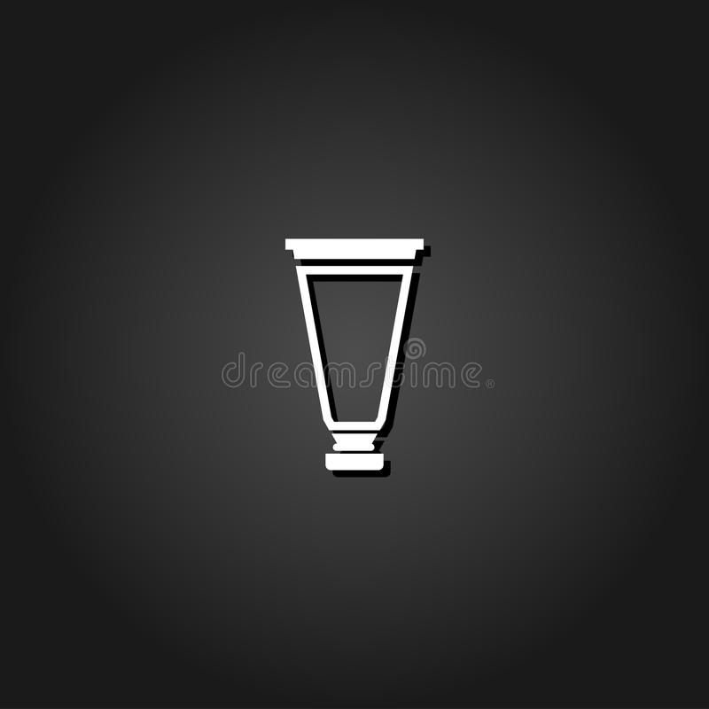 Lägenhet för symbol för rörbehållarekräm royaltyfri illustrationer