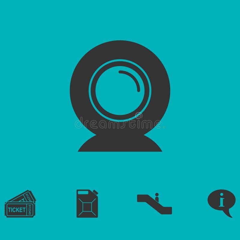 Lägenhet för symbol för rengöringsdukkamera vektor illustrationer