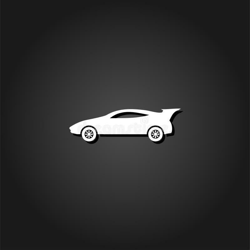 Lägenhet för symbol för sportbil stock illustrationer