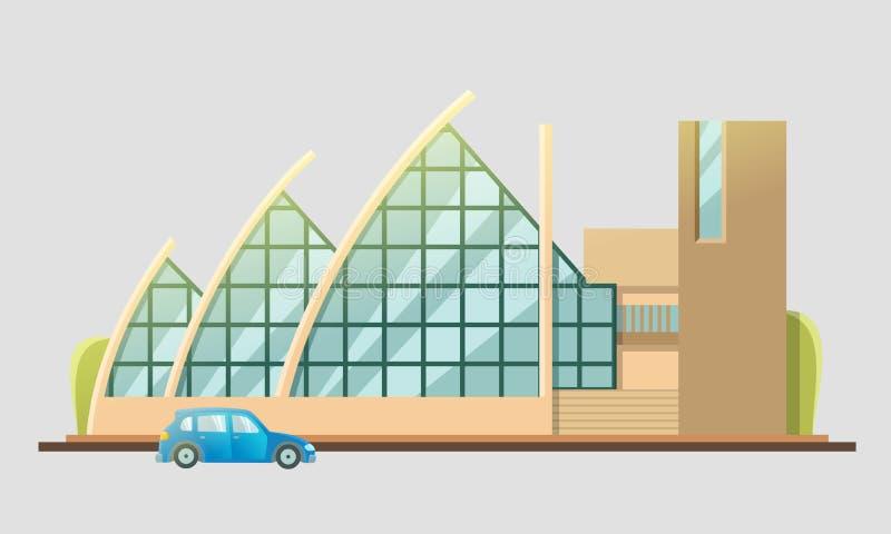 Lägenhet för teaterbyggnadsdesign royaltyfri illustrationer