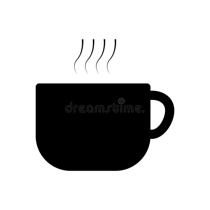 Lägenhet för utkast för teckning för vektor för kaffekopp modern stock illustrationer