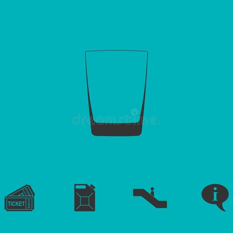 Lägenhet för whiskyexponeringsglassymbol vektor illustrationer