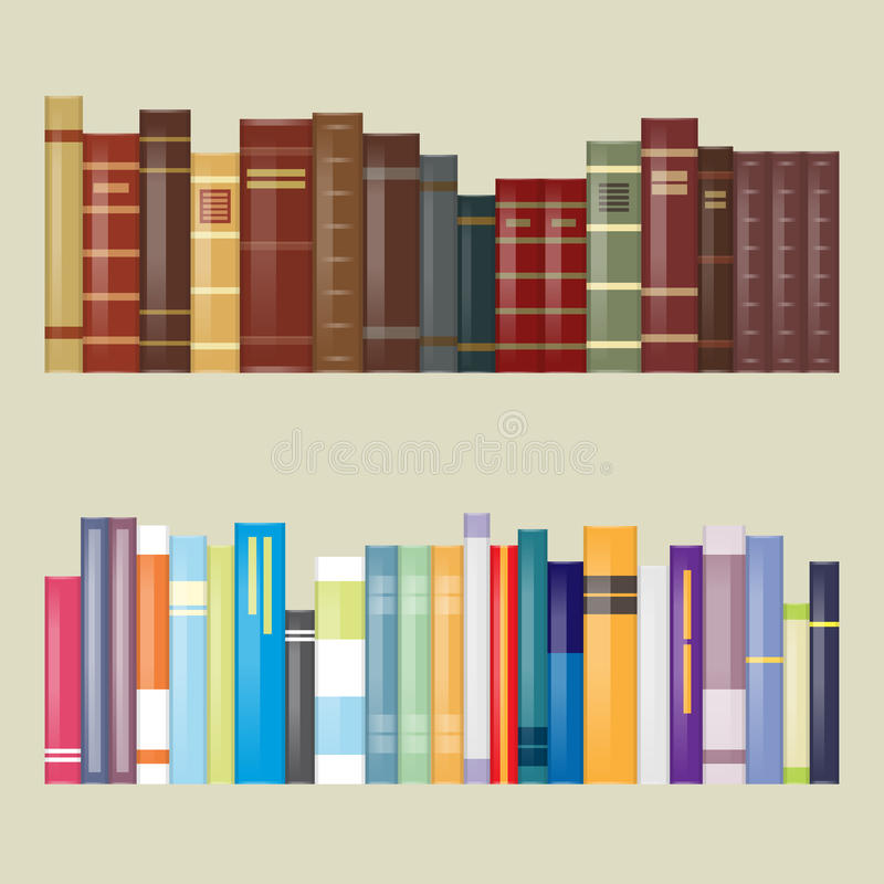 Lägenhet filtrerade designböcker stock illustrationer