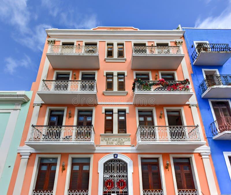 Lägenheter av San Juan, Puerto Rico arkivfoton