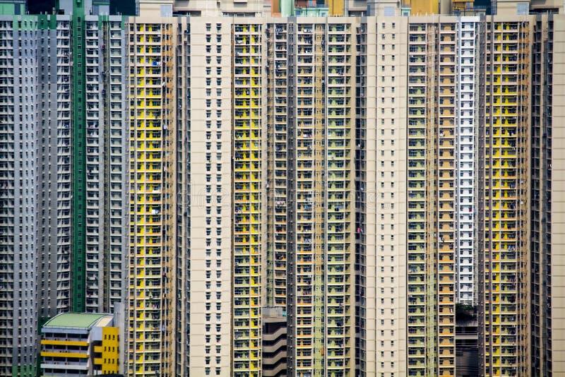 lägenheter Hong Kong arkivfoton