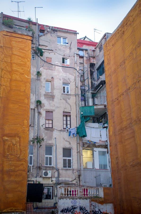Lägenheter i Barcelona royaltyfria foton
