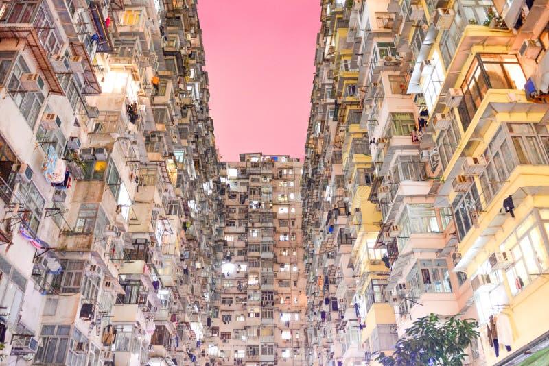 Lägenheter i Hong Kong royaltyfri bild