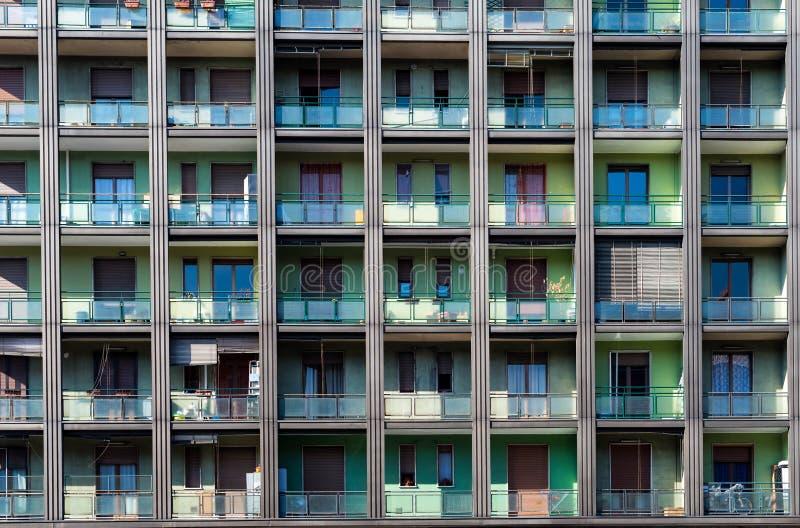 Lägenheter Milano fotografering för bildbyråer