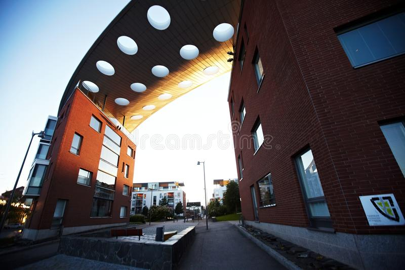 Lägenhethus i Helsingfors arkivbilder