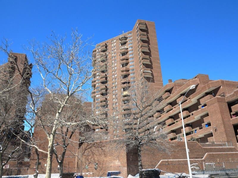 lägenhetstad New York fotografering för bildbyråer